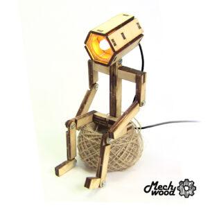 Сборная деревянная модель USB светильник Лайтбот