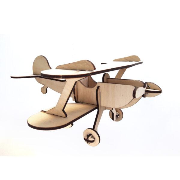 Сборная деревянная модель Биплан Кукурузник