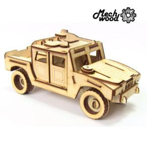 Сборная деревянная модель Военный внедорожник